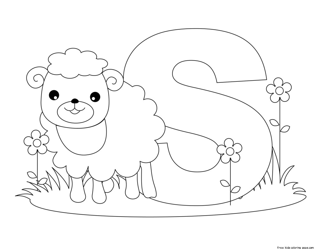 Printable Animal Alphabet Letter S Is For Sheep For