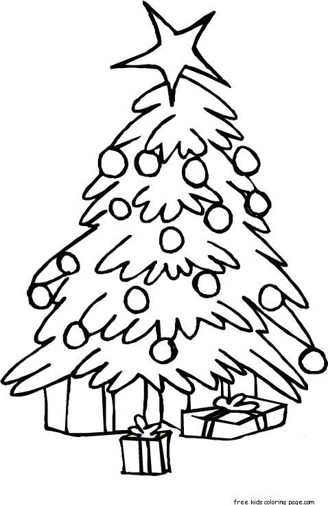printable christmas tree coloring