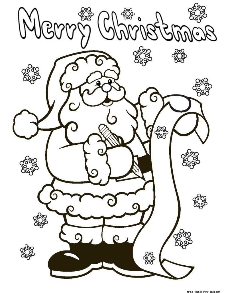 santa claus wish list printable christmas coloring ...