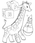 Print out Christmas Coloring Pages kids toy