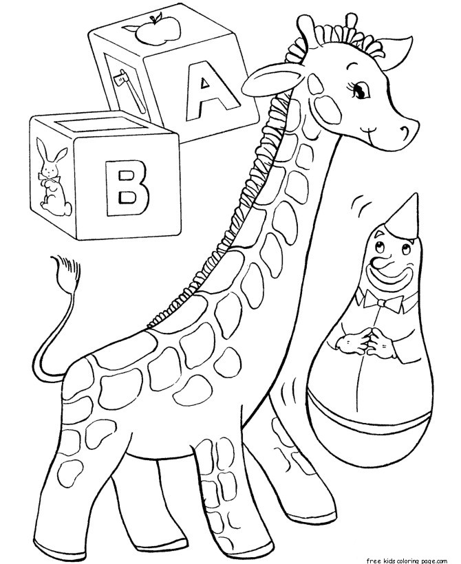 Printable coloring pages of toys