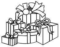 Print out coloring pages christmas present