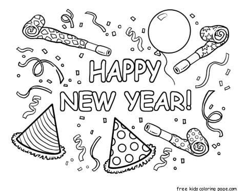 Make A New Year Card For Your FriendsDownload Coloring Sheet KindergartenHappy PaperOnline Craft PreschoolerPrintable