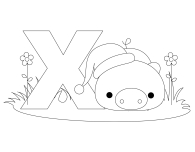 Printable Animal Alphabet Letter X for Xenarthra