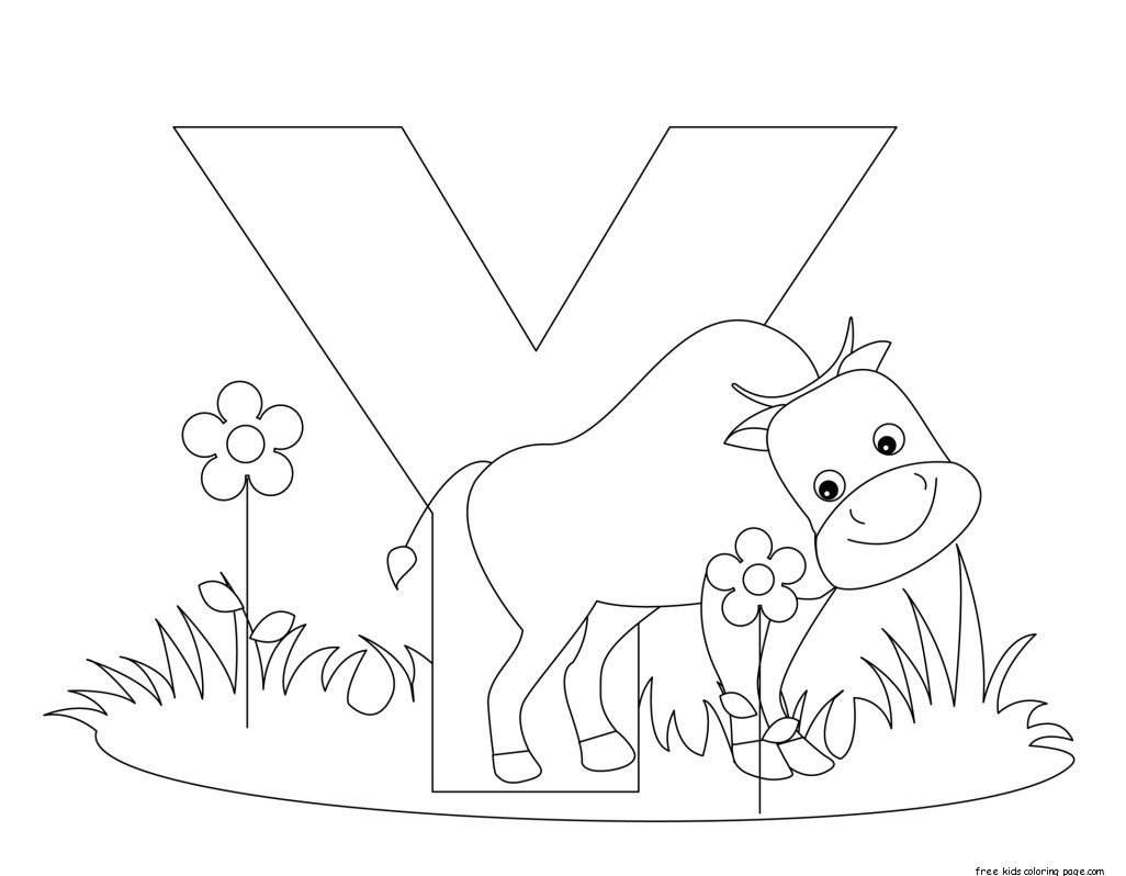 Printable letter y alphabet worksheets