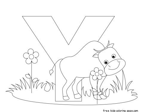 Printable Color... Y Coloring Pages