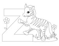 Printable Animal Alphabet Letter Z for Zebra