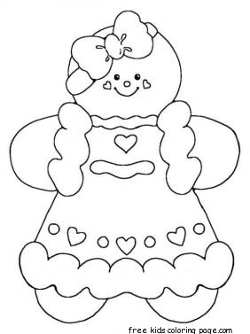 Printable Gingerbread Man Coloring Pages For KidsFree