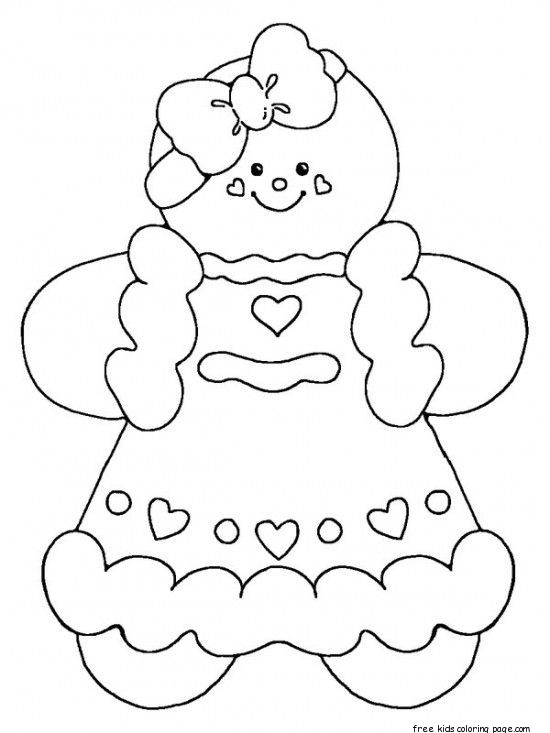 printable gingerbread man coloring