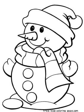 printable christmas snowman coloring