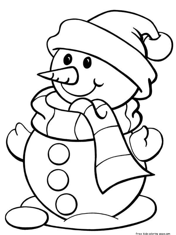 childrens coloring pages snowman shape - photo#41