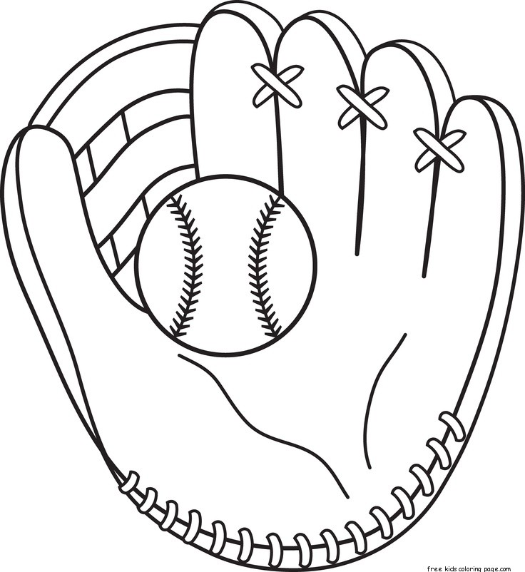 Printable baseball bat and glove