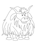 Printbale yak coloring page