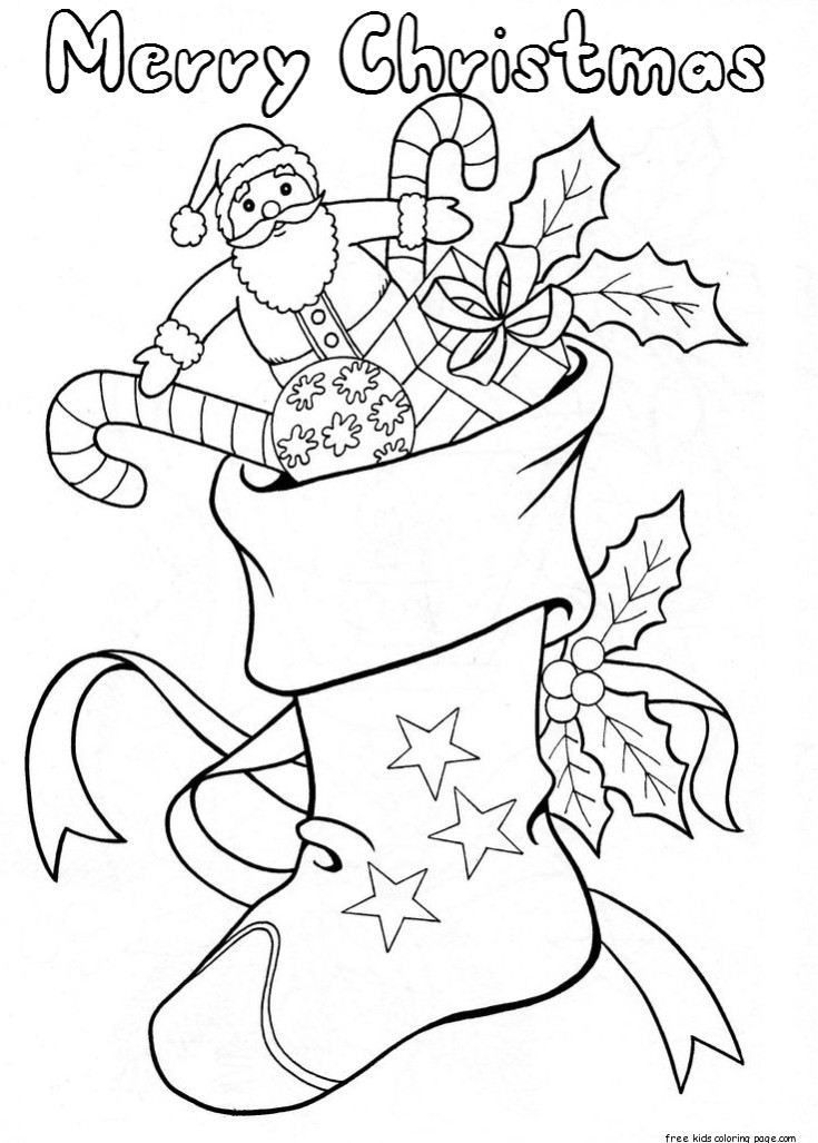 christmas stockings coloring pages - christmas stockings with candy and toys coloring pagesfree
