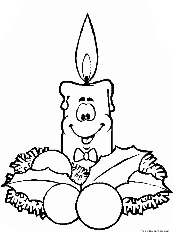Printable Christmas Candles Coloring Pages For KidsFree