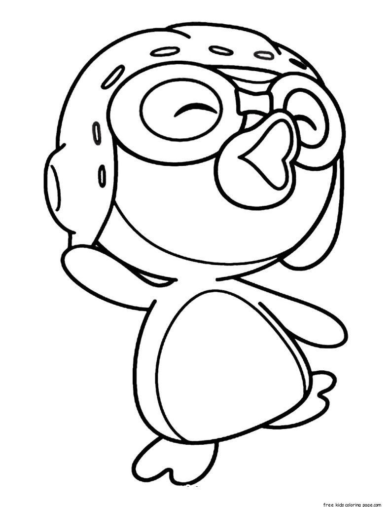 coloring pages for children to color | Printable pororo the little penguin coloring pages for ...