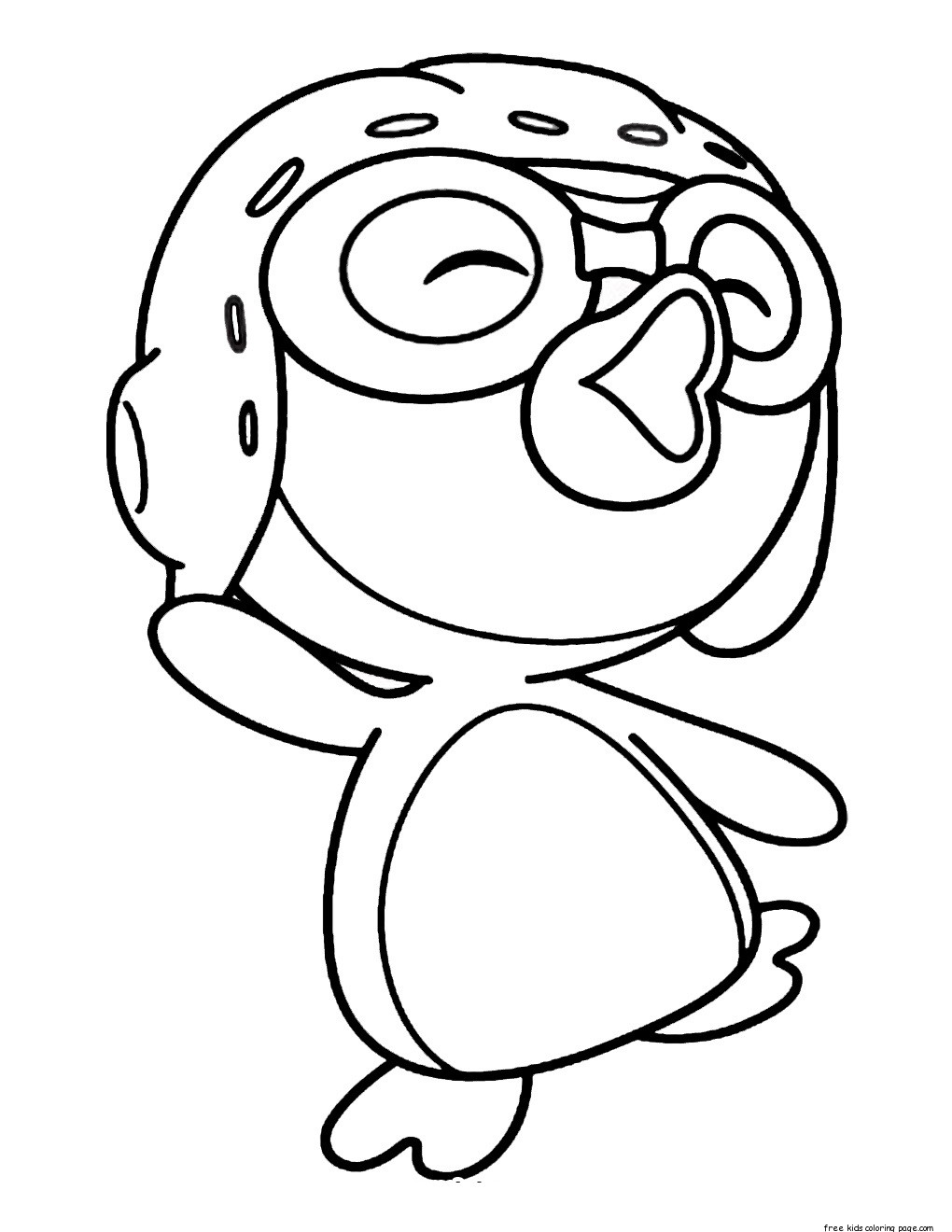 Printable pororo the little penguin coloring pages for for Free coloring pages of penguins