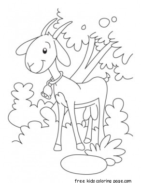 alphabet letters to print printable goat coloring pages kindergartenfree printable 1073