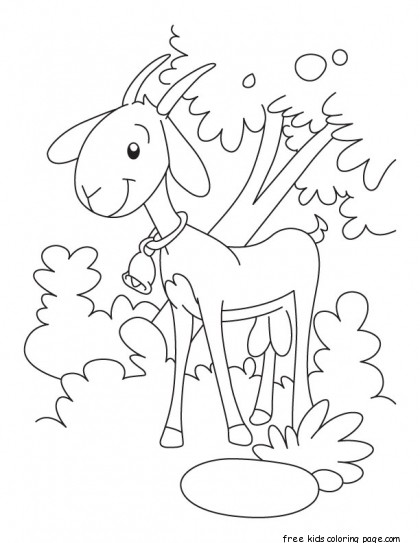 Printable goat coloring pages kindergartenFree