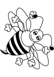 Printable insects Happy bee coloring page