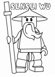 Printable ninjago ninja Sensei Wu coloring pages superheroes