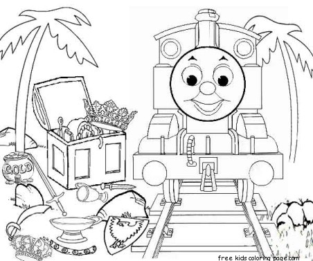 Printable thomas and friends coloring pages for kidsfree for Train coloring pages for kids