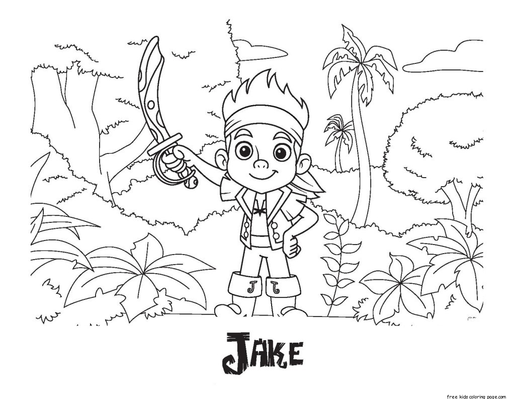 Printable coloring pages of jake and the neverland for Jake the pirate coloring pages