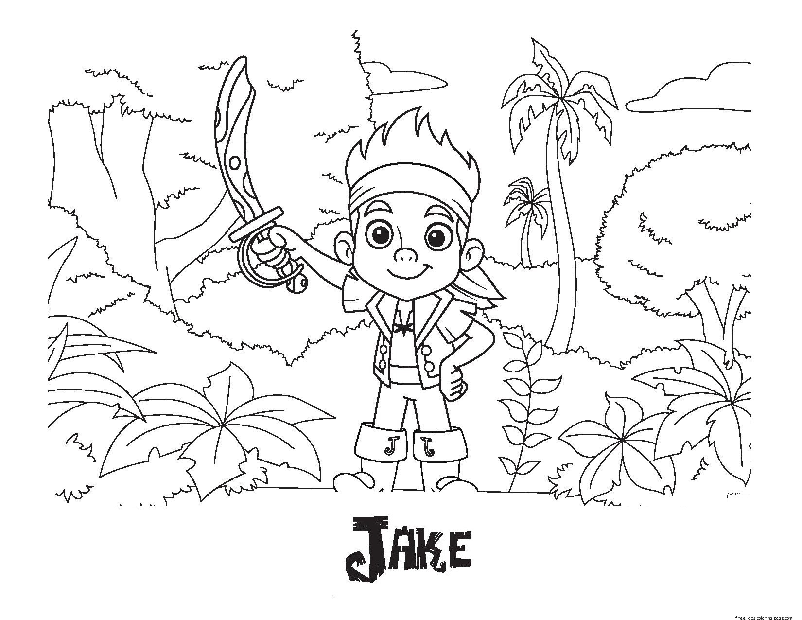 Printable Coloring Pages Of Jake And The Neverland