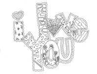 printable valentines day i love you card coloring pages