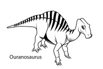 Print out dinosaur ouranosaurus coloring in sheet