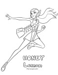 Printable Big Hero 6 coloring page Honey Lemon
