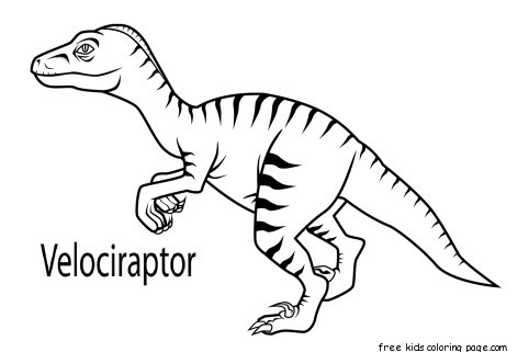 Dinosaur coloring pages velociraptor costume ~ Printable velociraptor dinosaur coloring book pages for ...