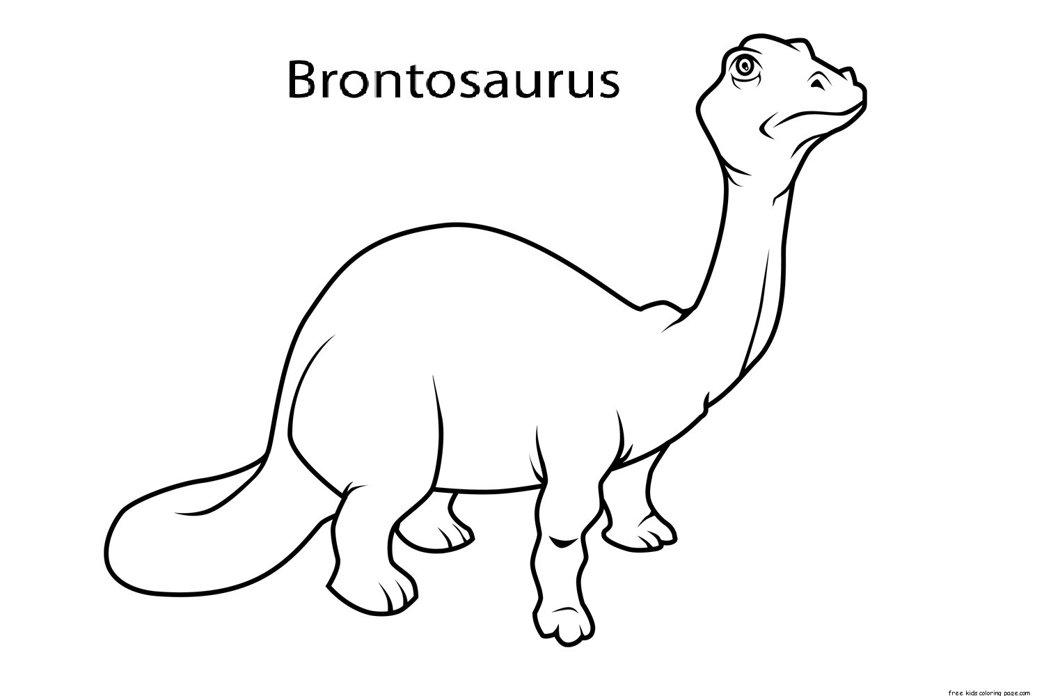 brontosaurus dinosaur coloring pages for kindergartenfree