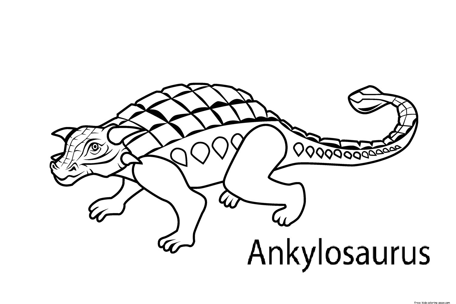 Printable dinosaur coloring pages ankylosaurus for for Printable coloring pages dinosaurs