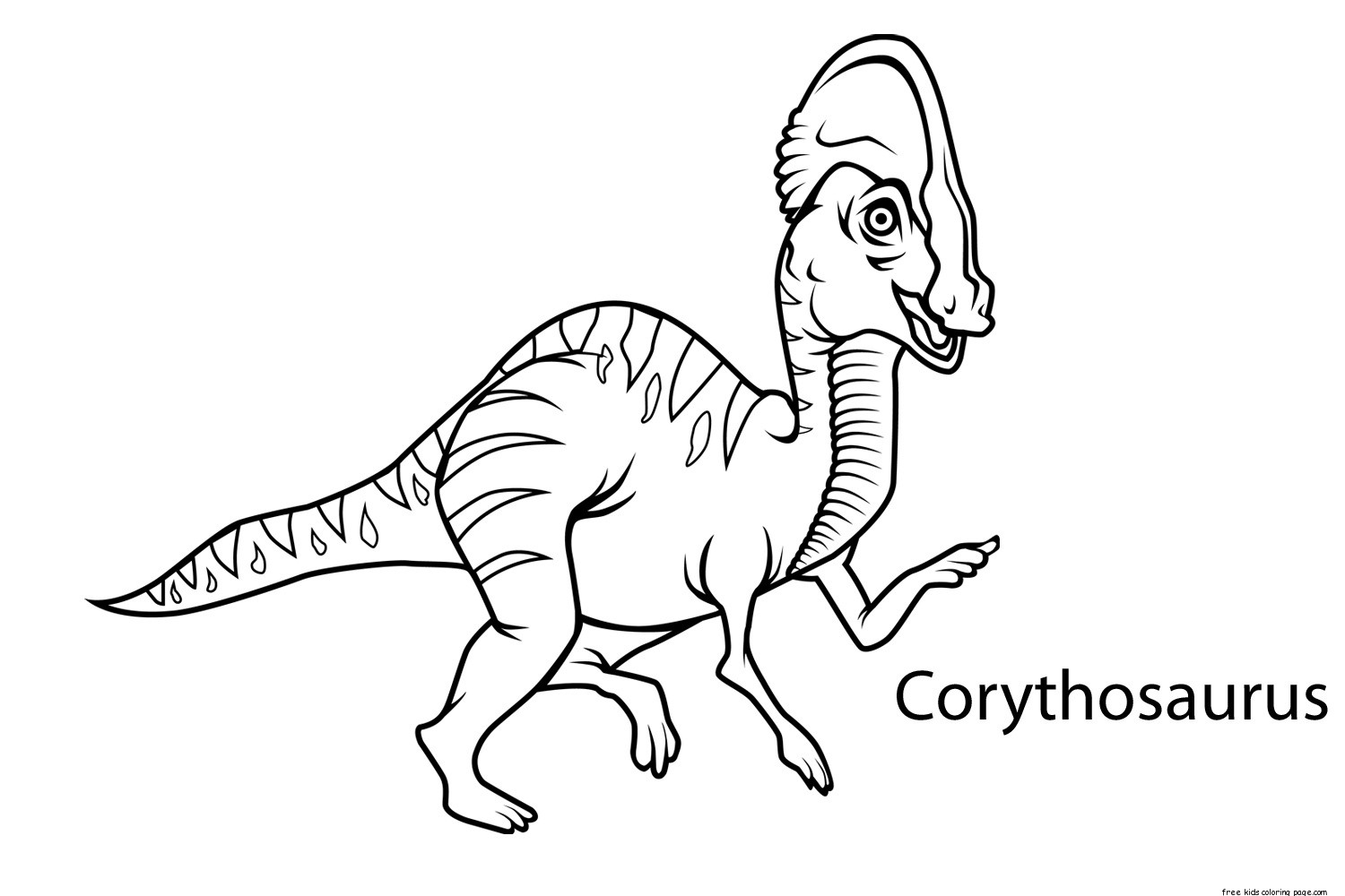 printable dinosaur corythosaurus coloring pages