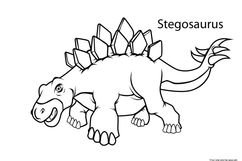 Printable stegosaurus dinosaur