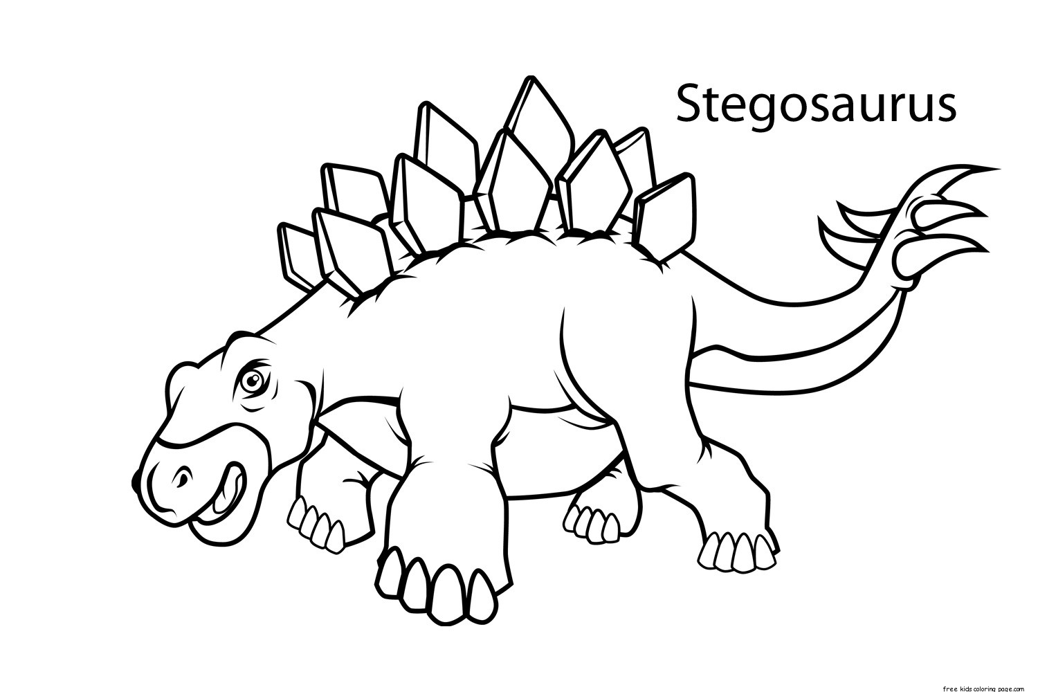 Printable stegosaurus dinosaur coloring pages for kidsfree for Printable coloring pages dinosaurs