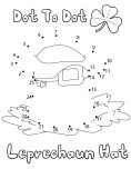 Printable  st patricks day leprechaun hat dot to dot
