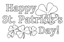Pritanble happy St. Patrick's Day Coloring Pages