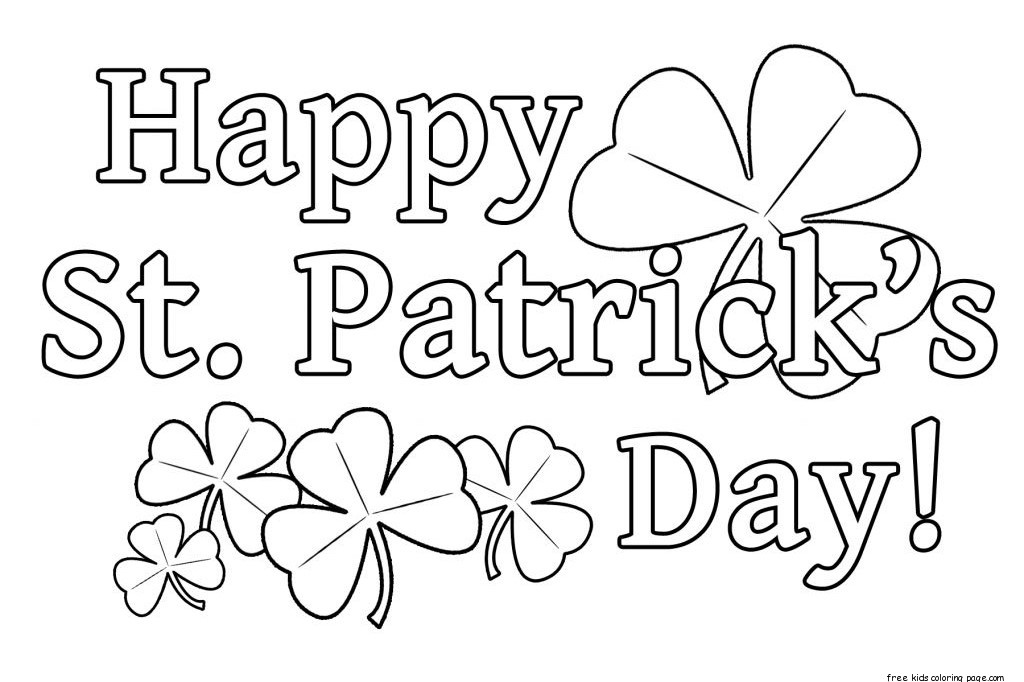St Patricks DayFree Printable Coloring Pages For Kids
