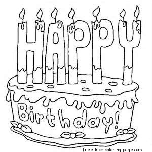 related coloring page - Birthday Cake Coloring Pages
