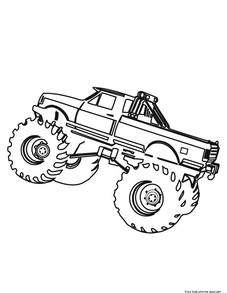 Printable monster truck coloring