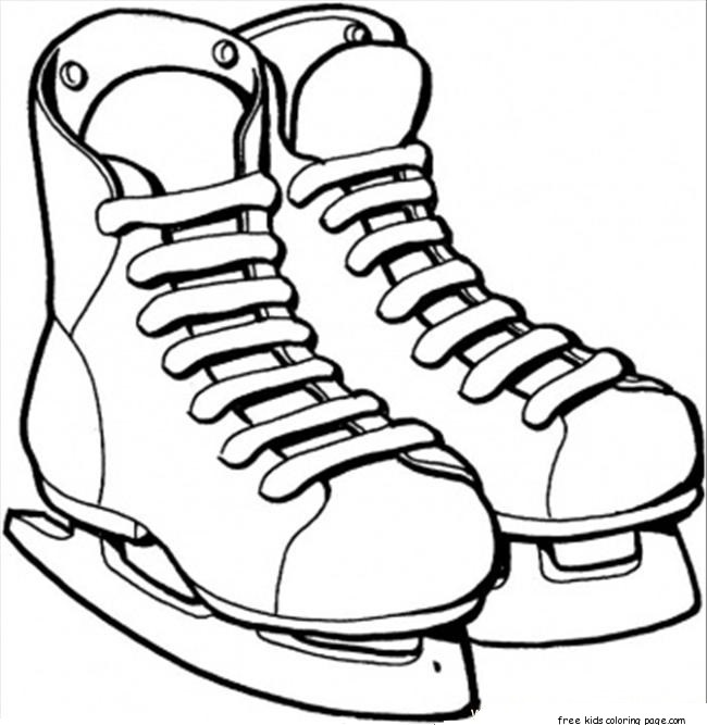 Printable ice skates sport coloring pagesfree printable for Ice skating coloring pages printable