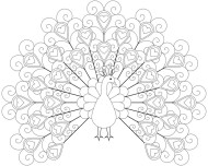 Printable peacock coloring pages