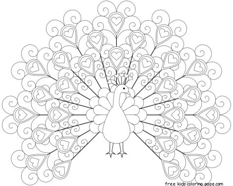 peacock coloring pages printable