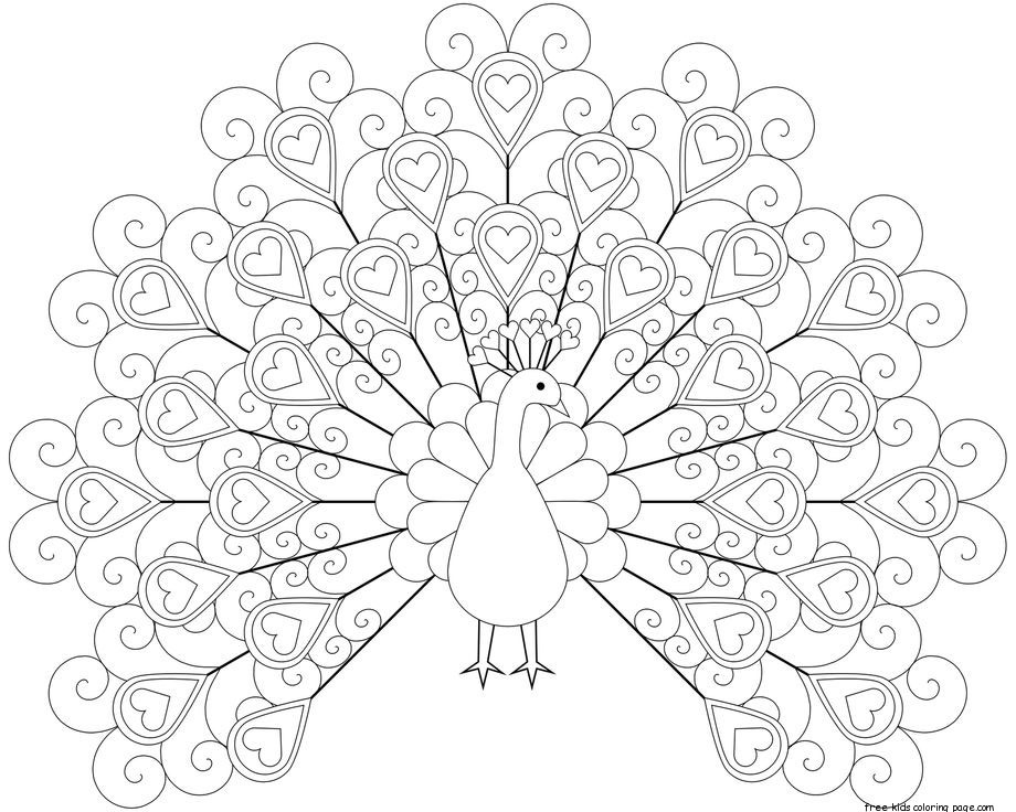 Peacock Coloring Pages Printable For KidsFree