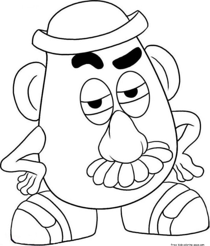 Printable Mr Potato Head Toy Story Colouring Pages For