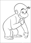 Printable Curious George coloring pages