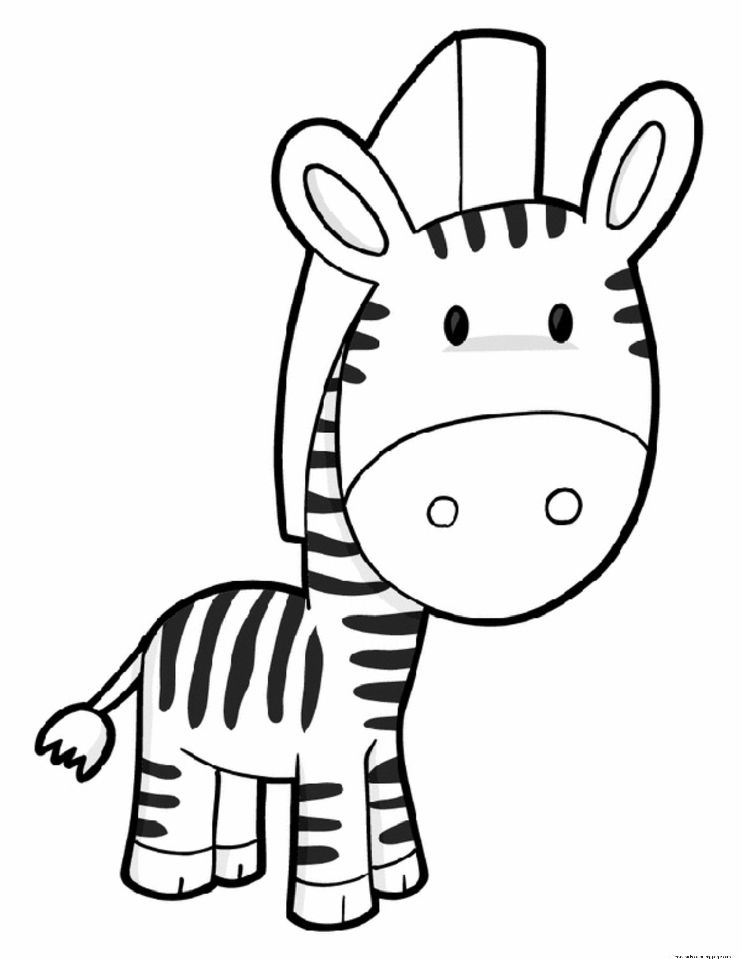 Delightful Printable Cute Zebra Coloring Pages: