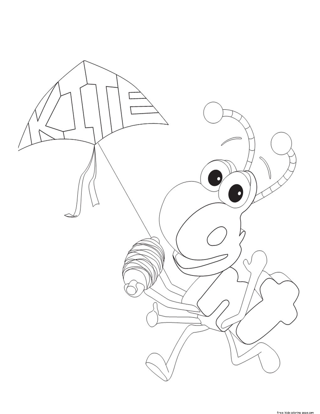 printable alphabet worksheets kindergarten ant and kitefree